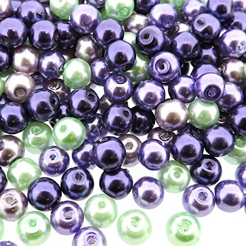 (Beads Direct USA's Small Round Glass Pearls 6mm 300pcs - Lavender Garden Mix)