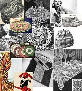 Vintage 1940's Crochet Patterns - Doilies, Shrugs, Afghans, Purses, 30 Vintage Crochet Patterns