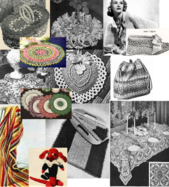 Amazon Com Vintage 1940 S Crochet Patterns Doilies Shrugs Afghans Purses Over 30 Vintage Crochet Patterns Ebook Crafts Craftdrawer Bookdrawer Kindle Store