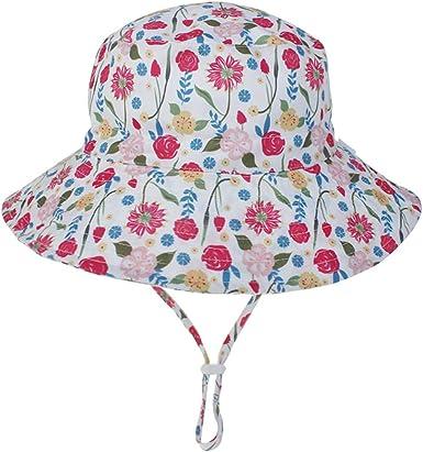 Summer Play Hats Toddler Boys Girls Sun Hats Kids Wide Brim Outdoor Beach Pool Hat UV UPF50