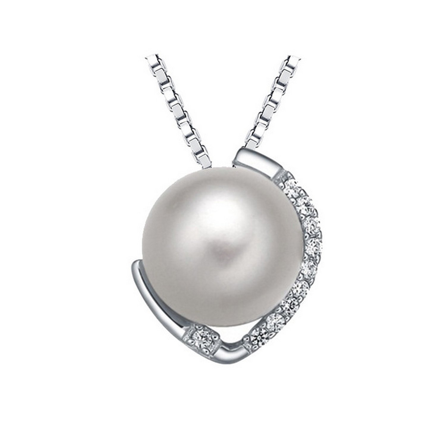 CS-DB Pendants Pearl Choker Silver Necklaces