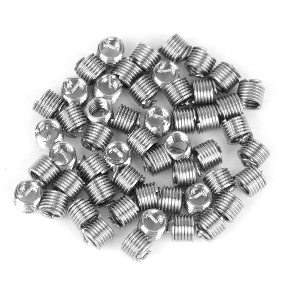 Helical Thread Inserts Kit 50pcs Stainless Steel Coiled Wire Helical Screw Thread Inserts M2 x 2D Avoid Thread Damage and get a Good Connection