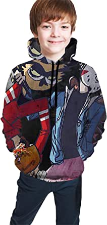 Sudadera con Capucha niño Unisex Kids Hoodies Sweaters OSS_XGam Pullover Clothes with Pocket for Teens