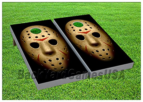 [CORNHOLE BEANBAG TOSS GAME Bags Game Boards JASON Friday the 13th Halloween 630] (Halloween Bean Bag Toss)