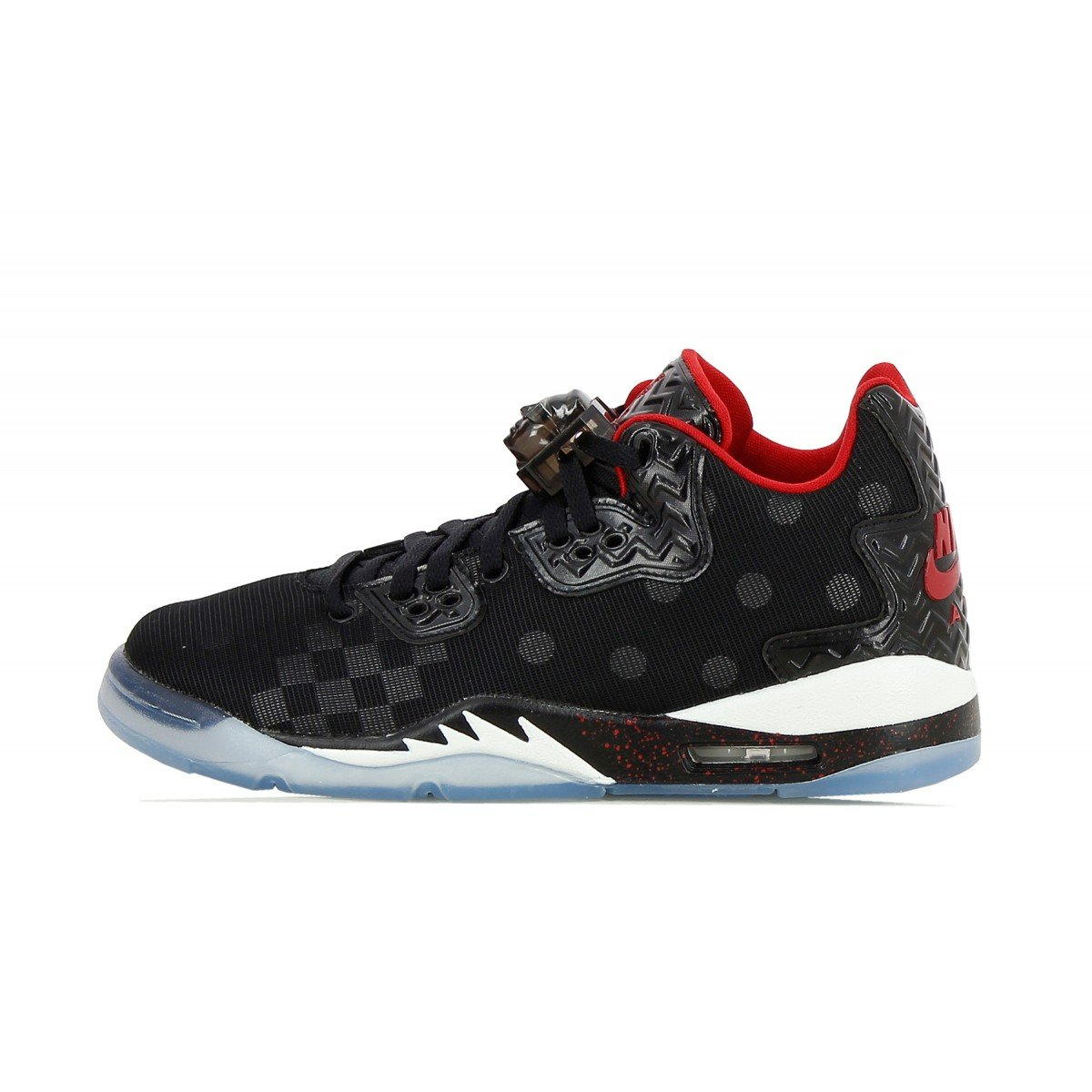 Nike Air Jordan Spike Forty Low BG Basketball Trainers 833460 Sneakers Shoes (5.5 M US, Black Gym red Wolf Grey Cool Grey 005)