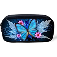 Coloranimal-Trousse avec adorables images d'animaux 8.66 inch(L)x1.77 inch(W)x4.33 inch(H) butterfly pattern-2