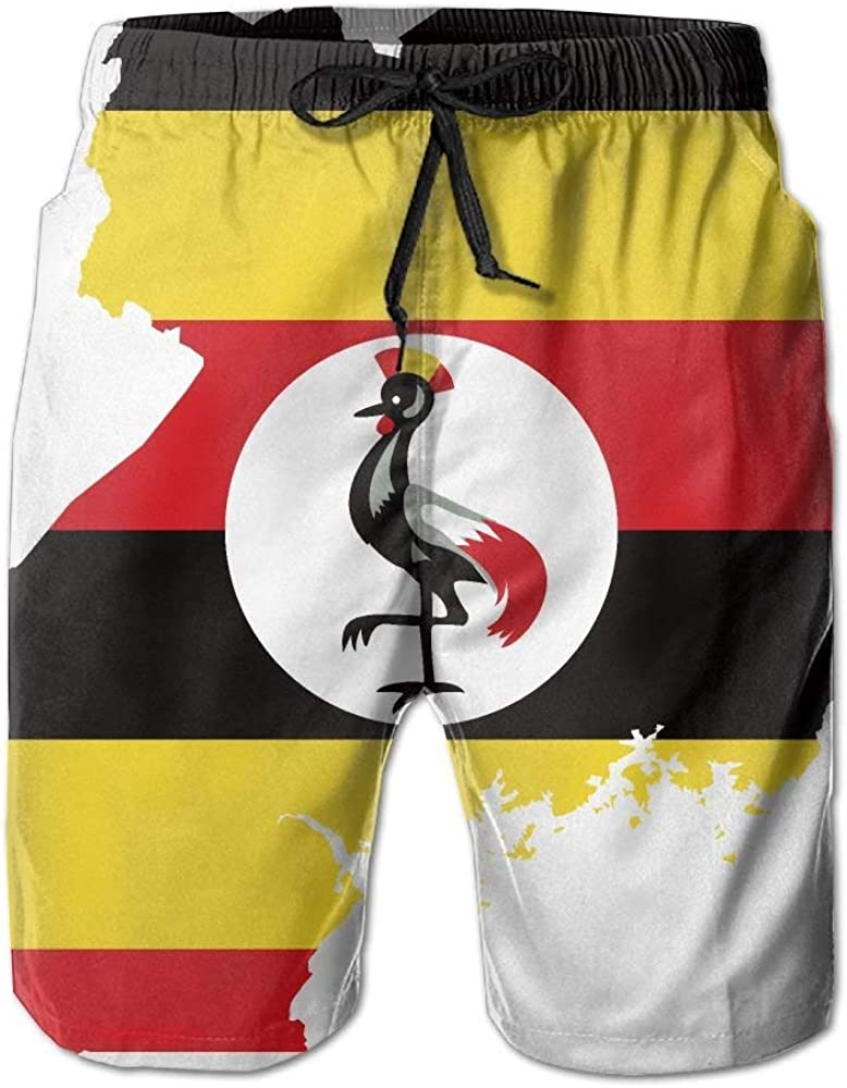 Jocper Mapa de la Bandera de Uganda Botas de Secado rápido Pantalones Cortos de Playa Trajes de baño Hombres Traje de baño XL: Amazon.es: Ropa y accesorios