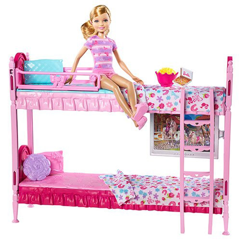 Barbie Sisters Bunk Beds By Mattel Amazoncouk Toys Games