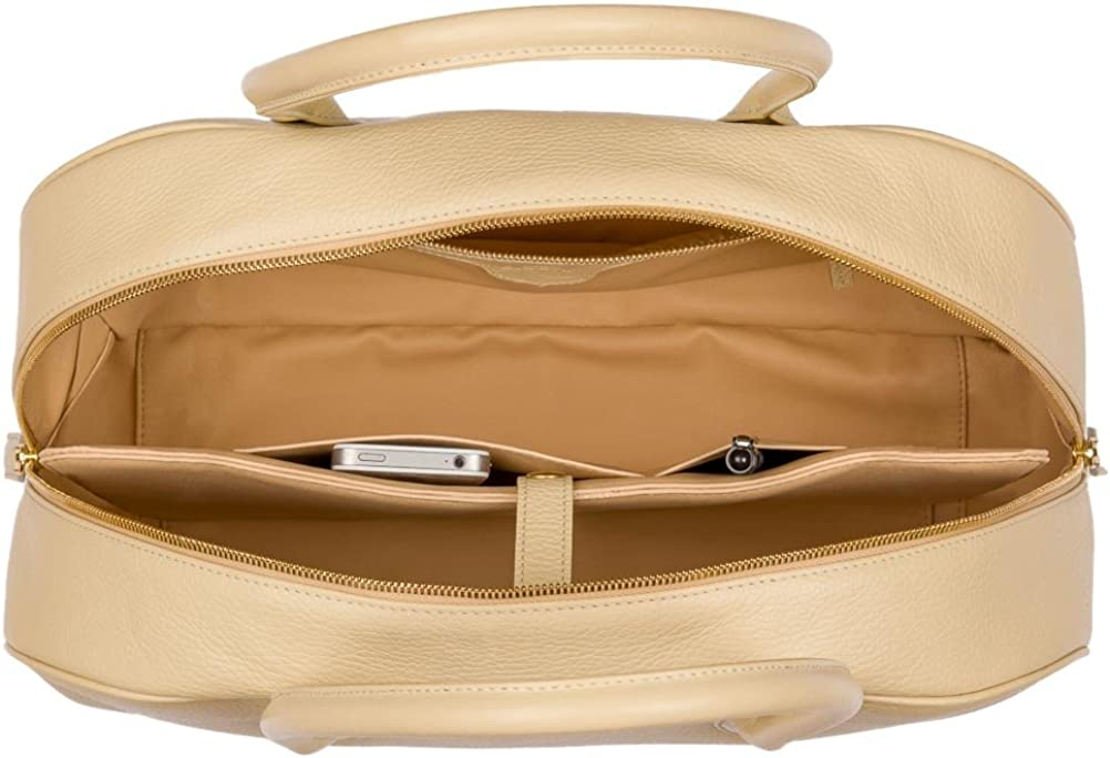 diboni ® - Borsa business da donna Valentina, in pelle, made in Germany Beige (Beige)