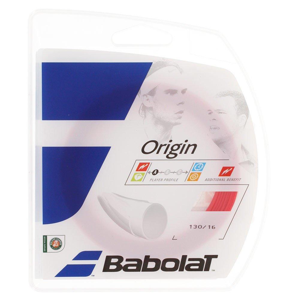 Babolat Origin 12M Cordaje de Tenis, Unisex Adulto, Rojo/Fluo, 125 241126