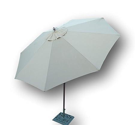 9ft Aluminum Market Umbrella Crank & tilt Color Taupe