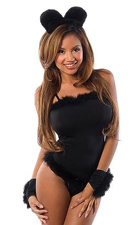 9106b748d5d Velvet Kitten Black Cat Costume 4 PC Women s Cami Set 3083 in Small Medium
