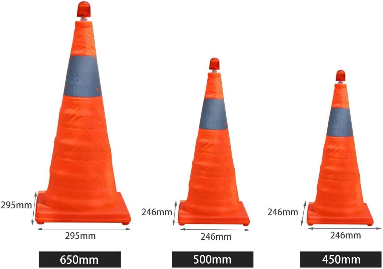 Teleskopisch Stra/ßen-Kegel Barrikaden Warnschild Reflective Oxford Leitkegel Verkehrsanlagen f/ür die Verkehrssicherheit JBP-X