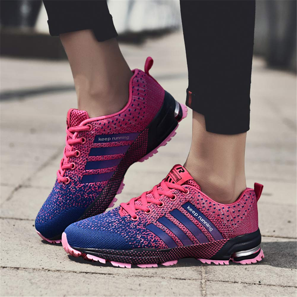 KUBUA Womens Running Shoes Trail Fashion Sneakers Tennis Sports Casual Walking Athletic Fitness Indoor and Outdoor Shoes for Women 5 B / 4 D F Purple by KUBUA (Image #4)