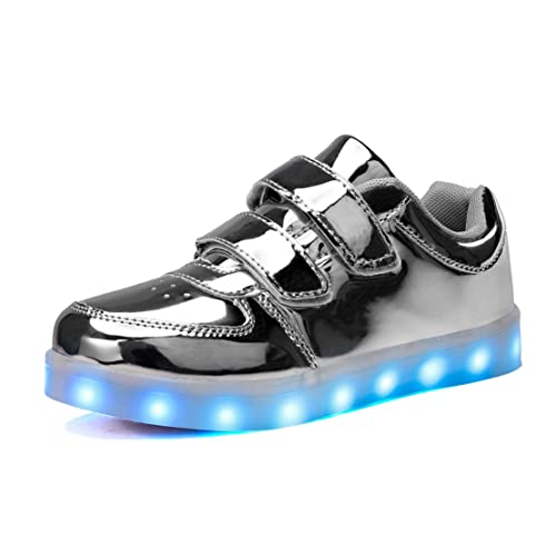 b723251c649d Image Unavailable. Image not available for. Color  KUULAND Kids Boys Girls Light  Up Shoes LED Trainers Low-Top Flashing Sneakers