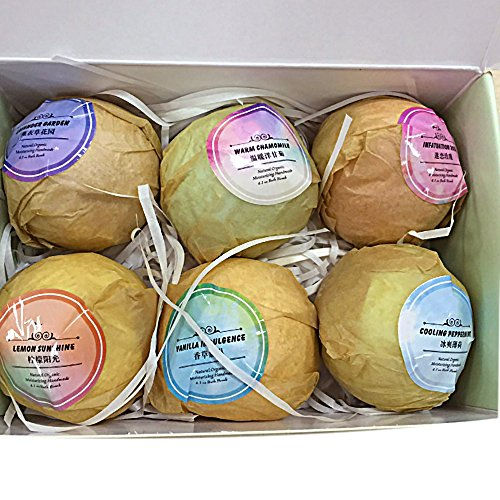Jaywayne 6PC Bath Bombs Ultra Lush Gift Set All Natural Fizzies With Dead Sea Salt Cocoa And Shea Essential Oils -Gifts Cosmetics Anniversary Birthday Fizzy Bomb For Woman Relaxation Toxin Rid Detox (Jewellery Frog Great)