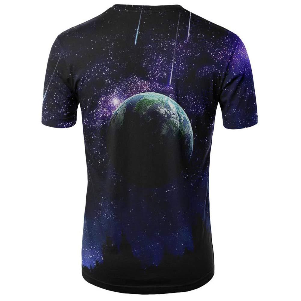 DSstyles Fashion Women Men 3D Starry Sky Printing T-Shirt