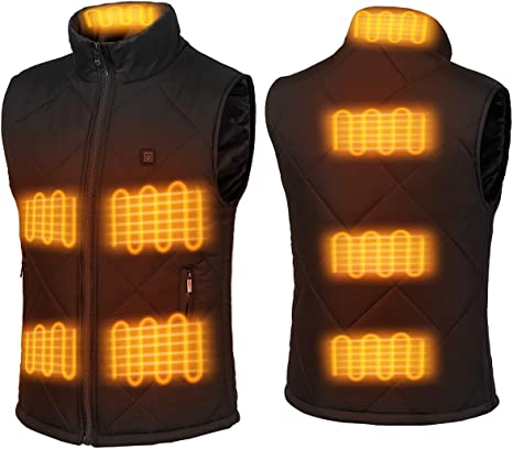 Battery Pack not Included FERNIDA Heated Vest for Men Women USB Charging Electric Heating Vests Water Wind Resistant
