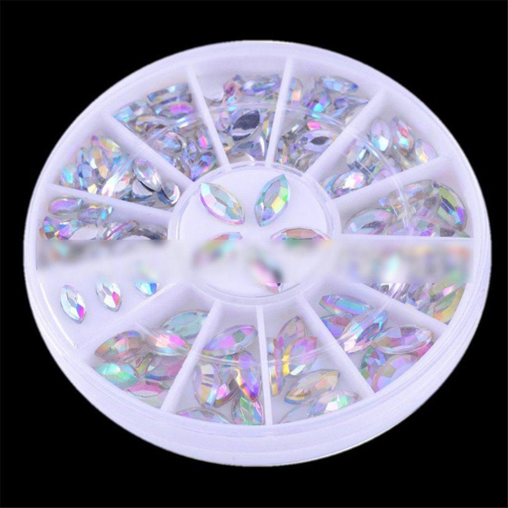 BrilliantDay Pedrería para Uñas Decoración Arte de Uñas Rueda de Diamantes Uñas Rhinestones Decoración Ronda
