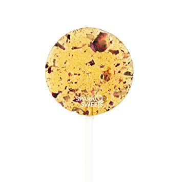 Sparko Sweets Natural Honey Rose Tea Lollipops, 8 Pieces, No Artificial  Ingredients, No Corn Syrup,