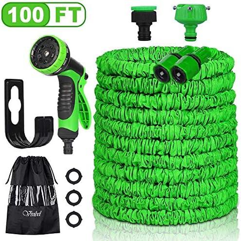 Mangueras de Jardín, 30M 100FT Manguera de Jardín Extensible, manguera de jardín flexible estirable con pistola de pulverización de jardín de 10 funciones para lavado de autos, riego de jardín, patio: Amazon.es: