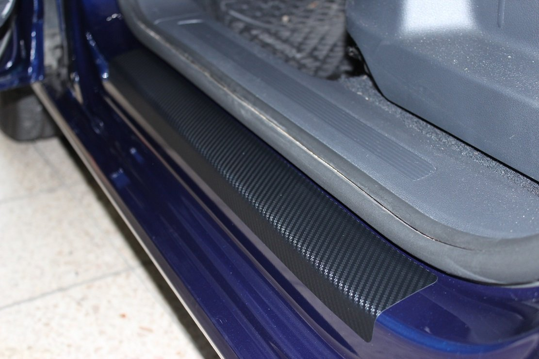 Scuff Plate Door Sill Paint Protection Film Protector 3D Carbon Foil Door Einstiege Einstiege 2172