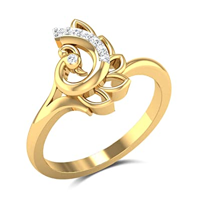afddf60f3 Buy Zaamor Diamonds 18k (750) Yellow Gold and Diamond Erin Ring Online at  Low Prices in India | Amazon Jewellery Store - Amazon.in