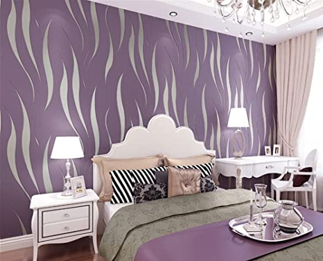 Delicieux XiYunHan 3D Wallpaper Minimalist Modern Flocking Embossed Covered Non Woven Bedroom  Living Room Backdrop Wall