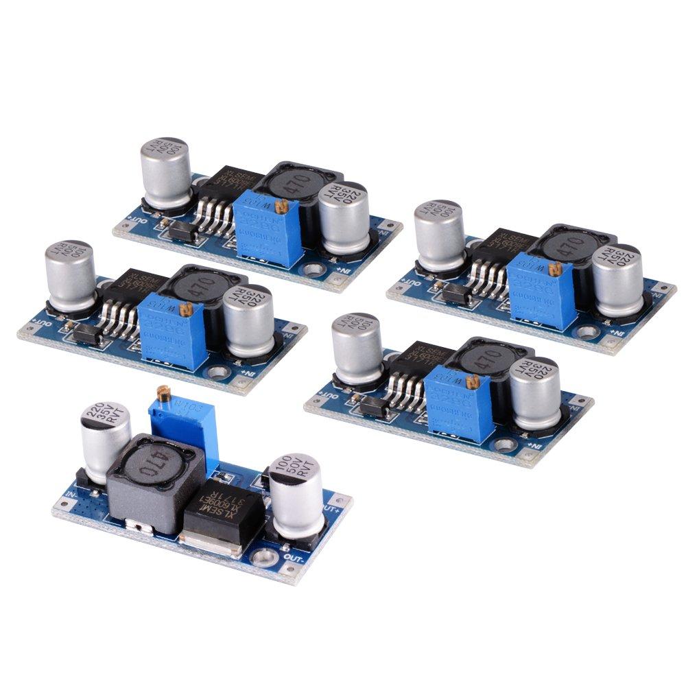 5PCS XL6009 5-32V zu 5-50V DC-DC Aufladungs-Modul-Ausgangsspannung justierbarer Schritt herauf Boost Energien-Konverter-Leiterplatten-Modul 400KHz Wiedereinbau f/ür LM2577