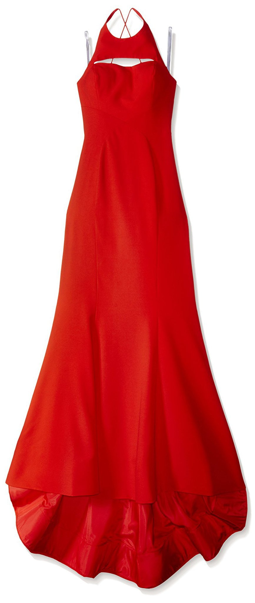 Terani Couture Women's Hourglass Gown, Red, 10
