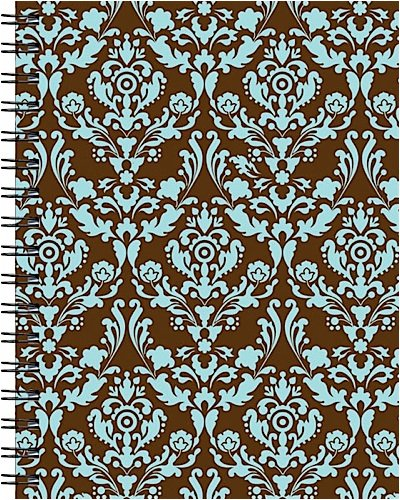 Wire-o Journal - Rococo - Medium..( Lined both sides - Black wire-o )