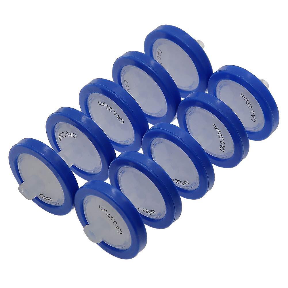 AMTAST Syringe Filters Cellulose Acetate 25MM Diameter 0.22um Pore Size CA Syringe Filters Non Sterile Lab Filters Pack of 10