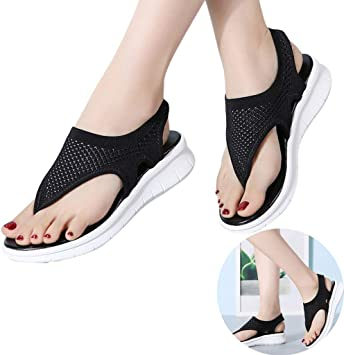Clearance Swiusd Womens Comfy Cross Strap Slippers Sandals Trendy Slingback Open Toe Thick Bottom Slip On Beach Shoes