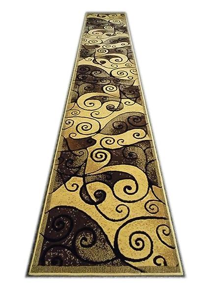 Modern Runner Rug Design Gallery 23 Berber (32 Inch X 15 Feet 6 Inch)