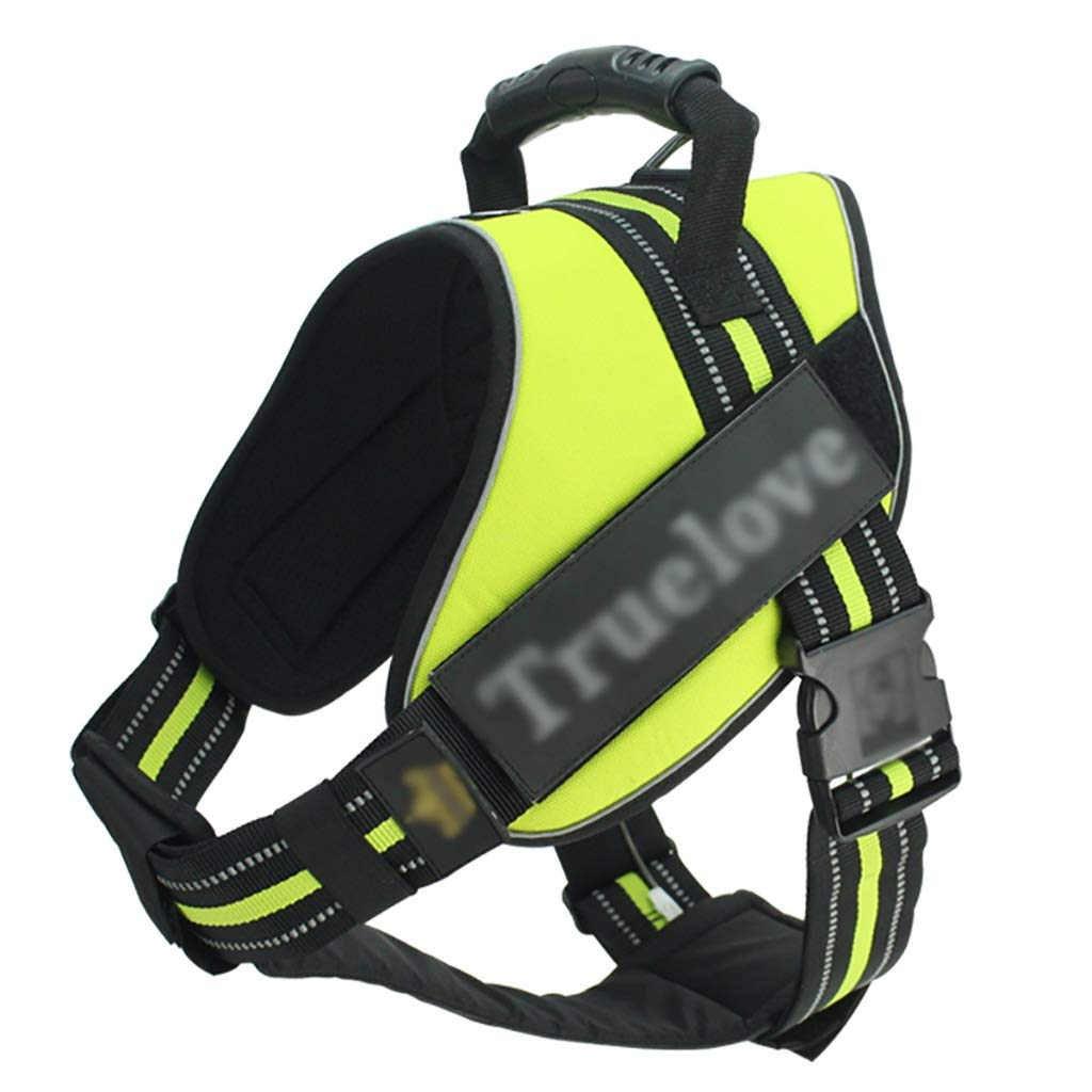 Pet chest strap traction rope chest back adjustable vest-style adjustable reflective strips soft comfortable sturdy durable (color   A, Size   XS 40-53CM)