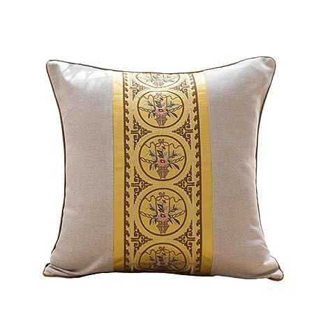 Sofá cojín bordado almohada algodón lino funda de almohada ...