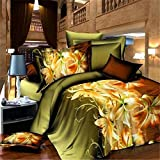 3D Prints Duvet Cover Sets/bedding Sets / Bed Linens (king, 1 Duvet Cover+1 Flat Sheet +2 Pillowcases),KING