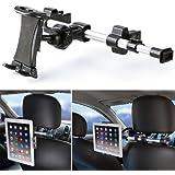 Supporto Auto, iKross Universale Supporto Poggiatesta per Tablet da 7-10.2 pollici, Poggiatesta Schienale da Sedile Posteriore Allungabile, Regolabile e 360 Gradi di Rotazione
