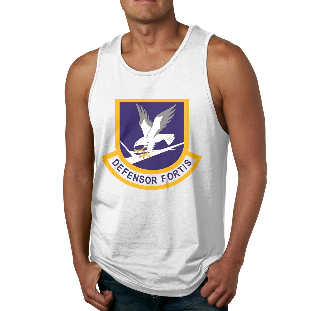 Defensor Fortis Air Male Printed Vest Sports Tank-Top Shirts Leisure Sleeveless Shirt