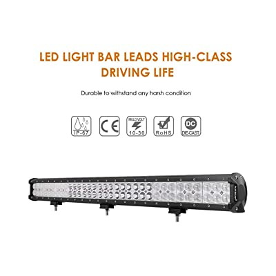Auxbeam 30 inch LED Light Bar 198W Light Bar Combo with 66pcs 3W Led Chips Driving Light for Off-Road Truck 4x4 Military Mining Boating Farming and Heavy Equipment: Automotive