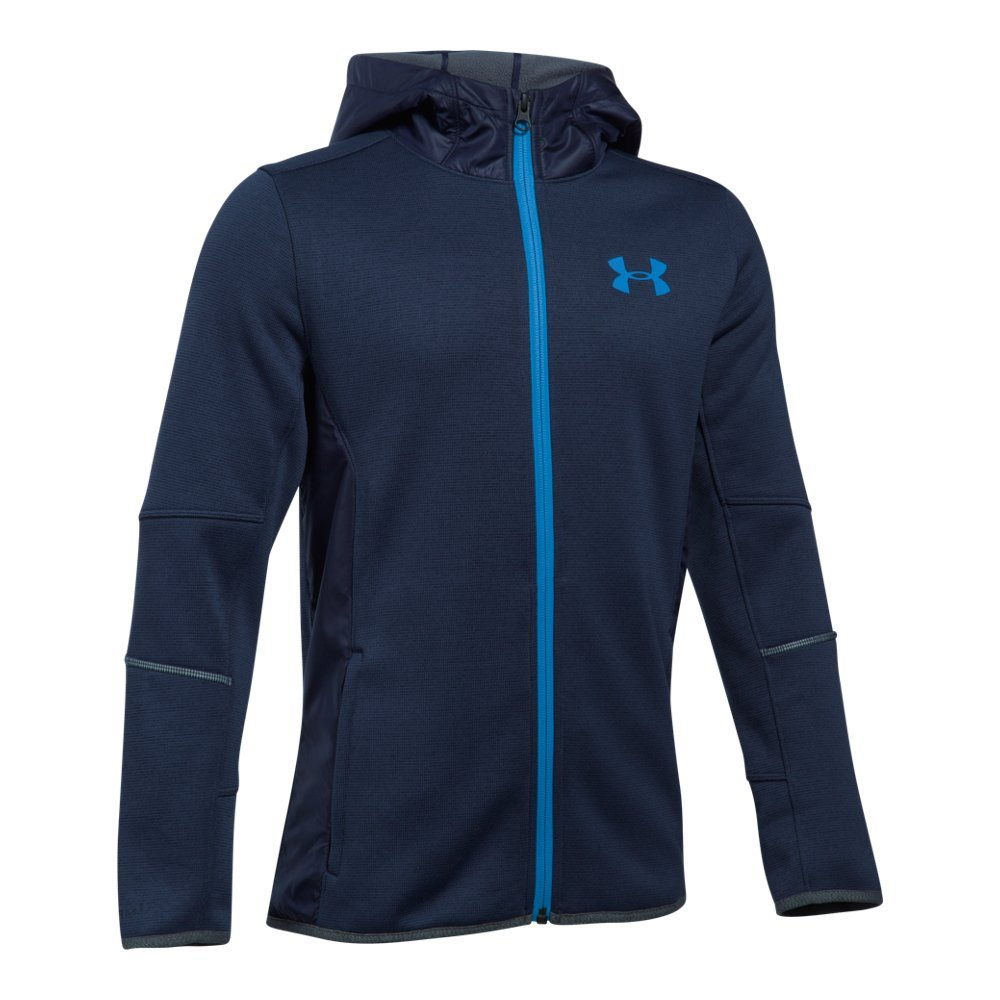 Under Armour Boys Storm Swacket,Midnight Navy /Mako Blue, Youth X-Small