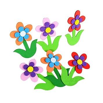 4 Pics 3d Design Multi Farbe Blumen Kinderzimmer Deko Material