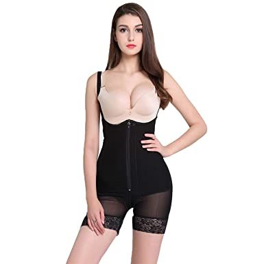 e15cc37472 Image Unavailable. Image not available for. Color  Women Bodysuit Control  Pants Waist Trainer Butt Lifter Body Shaper Slimming Underwear Shapewear  Corset