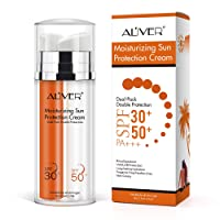 Mineral Sunscreen with SPF 30 + SPF 50 - High UVA Protection Sunblock Water Resistant and Non-Greasy Sunscreen Lotion Dual Pack Double Protections