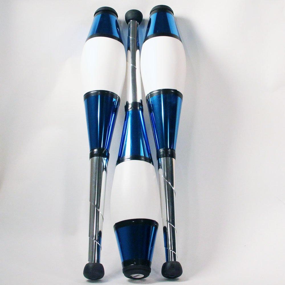 Zeekio Pegasus Juggling Clubs - Set of 3 (All Blue) by Zeekio (Image #2)