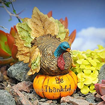 MINIATURE DOLLHOUSE FAIRY GARDEN Thanksgiving Turkey YOUR CHOICE 943