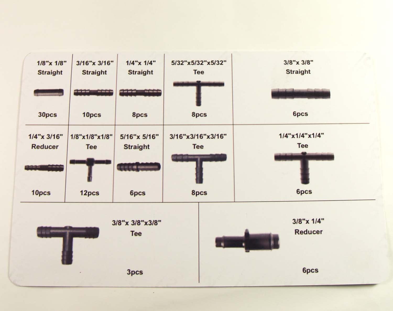 Craft Equip 113 Tlg Schlauchverbinder Set T Stück Verbinder Reduzierstück Kfz Baumarkt