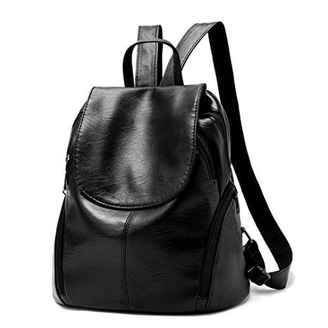 Red Backpack Women Mini PU Leather Backpacks for Teenage Girls College  Student Bag 3 Color Ladies c651065923cb8