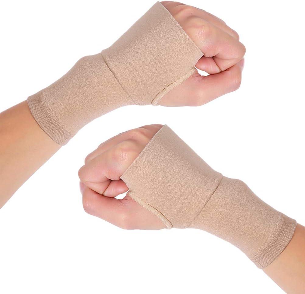 SUPVOX Par de Muñequeras Soporte Férula Muñeca para Túnel Carpiano Esguinces Escafoides Distensiones Artritis Tensión Izquierda Derecha (M)