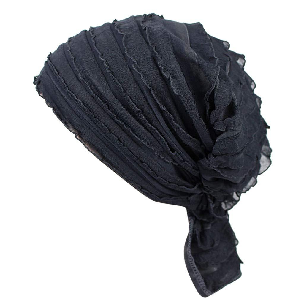 Dwevkeful Turbantes para Mujer Cancer, Pañuelo Decoración Floral SóLido AlgodóN Pañuelo Gorro Peruano para Chemo Oncológico Pèrdida de Pelo Cabello: ...
